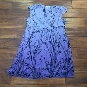 Soma Purple Floral Ombre Dress in SIze Xl